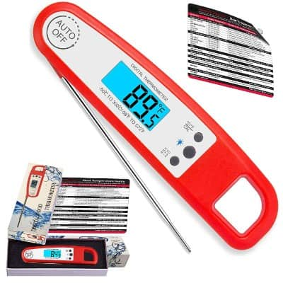 Water-Resistant New Super Accurate Instantaneous Reading Meat, Food, Candies Thermometer