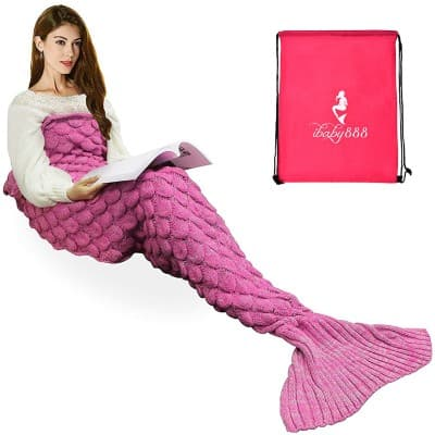 iBaby888 Wearable Mermaid Tail Blanket Crochet