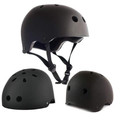 Adult Skateboard Helmet 11-Vents Adjustable Straps Protective Skiing Skate Bike Cycling Helmet