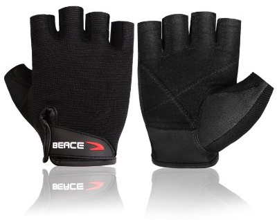 BEACE Weight Lifting Gym Gloves with Anti-Slip Leather Palm