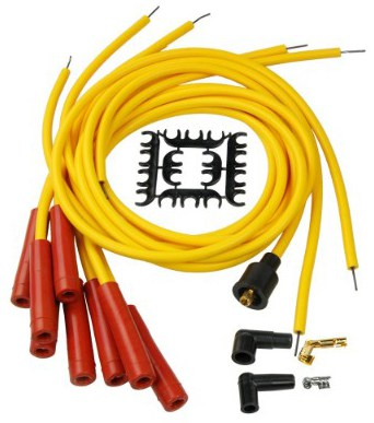 Bravex 8mm Spark Plug Wire Set 4040 - Yellow