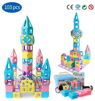Magnetic Building Blocks STEM Educational Toys Tiles Set for Boys & Girls