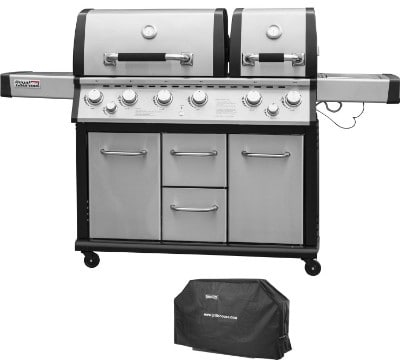 Royal Gourmet Mirage MG6001-R Two Split Lid 6-Burner Cabinet Propane Infrared Burner Gas Grill