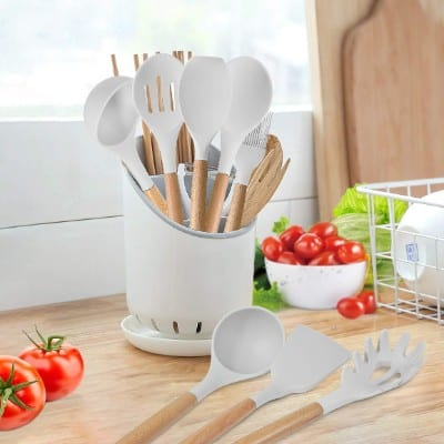 KINFAYV Silicone Cooking Utensil Kitchen Utensil Set