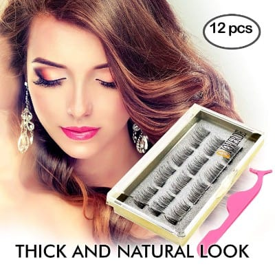 DIOVERDE 12 Pcs Upgraded Fiber Ultra Thin & Reusable Great 3D Magnetic Eyelashes