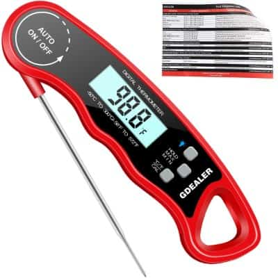 "GDEALER DT9 Waterproof Digital Instant Read Meat Thermometer with 4.6"" Folding Probe"