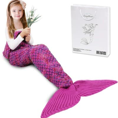 AmyHomie Mermaid Tail Blanket, Mermaid Blanket Adult Mermaid Tail Blanket