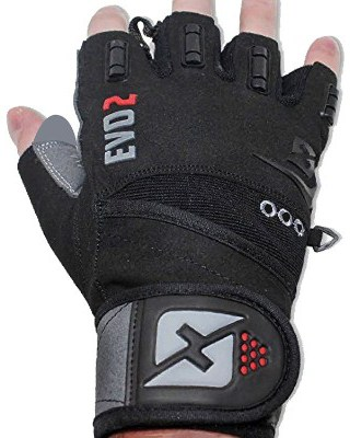 Skott 2019 Evo 2 Weightlifting Gloves with Integrated Wrist Wrap Support