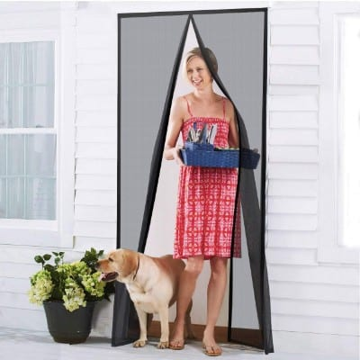 Homitt [Upgraded Version] Magnetic Screen Door with Durable Fiberglass Mesh Curtain