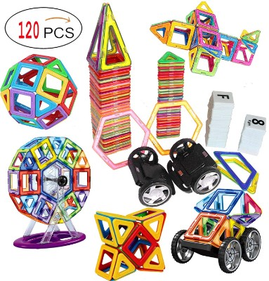 DreambuilderToy 120 PCS Creative Magnetic Building Blocks Set