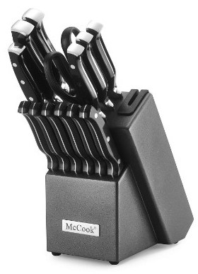 McCook MC25 14 Pieces FDA Certified High Carbon Stainless Steel Kitchen Knife Set