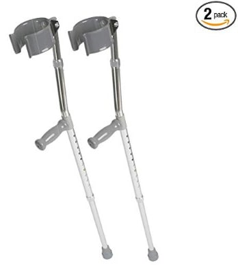 Medline MDS805160 Aluminum Forearm Crutches