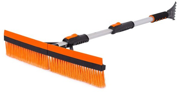 Snow MOOver 46 Extendable Snow Brush with Squeegee & Ice Scraper