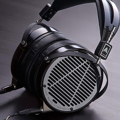 Audeze LCD-4 Over-Ear | Open Back Headphone | Ebony Wood Ring | Leather Ear Pads