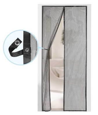 Magnetic Screen Door - Self Sealing, Heavy Duty, Hands-Free Mesh Partition