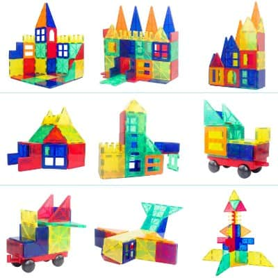 VCANNY Magnetic Blocks, Magnetic Building Blocks Set for Boys:Girls