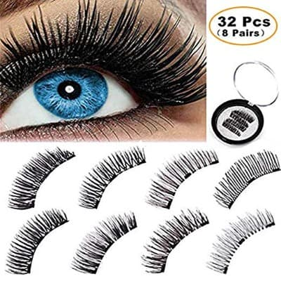 BONNIE CHOICE 32 Pcs Magnetic False Eyelashes Extension