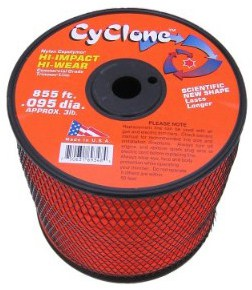 Cyclone .095-Inch Diameter, 3-Pound Spool Commercial Grade 6-Blade Grass Trimmer Line