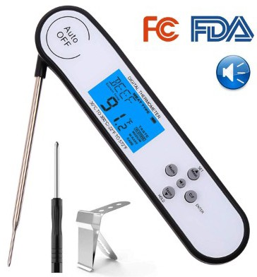 Instant Read Meat Thermometer Digital Grill Thermometer Waterproof Candy Thermometer