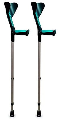 ORTONYX Walking Forearm Crutches 1 Pair - Ergonomic Handle with Comfy Grip