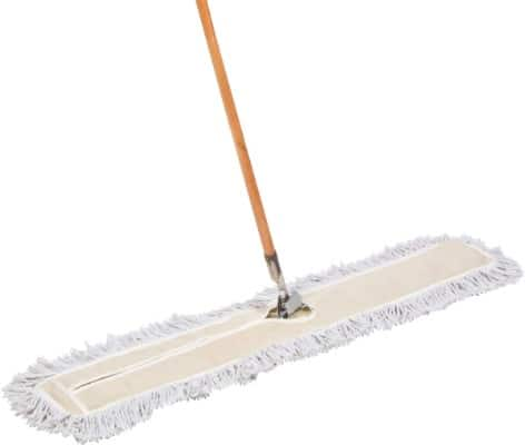 Tidy Tools 48 Inch Industrial Strength Cotton Dust Mop with Wood Handle