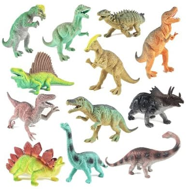 Boley 12 Pack 9 Educational Dinosaur Toys