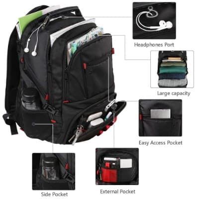 Extra Large Backpack, TSA Friendly Durable Travel Computer Backpack