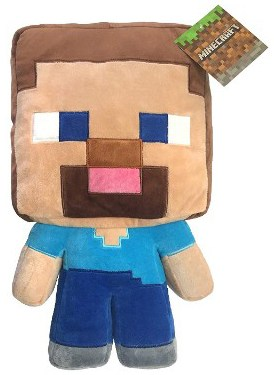 Jay Franco Mojang Minecraft Steve Plush 16 Pillow Buddy