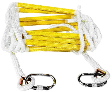 Emergency Fire Escape Rope Ladder 3 Story 4 Story Homes 32 Feet Flame Resistant Fire Safety