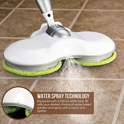 Elicto ES230 - Electronic Wireless Mop - 3-in-1 Cordless Spin Floor Cleaner