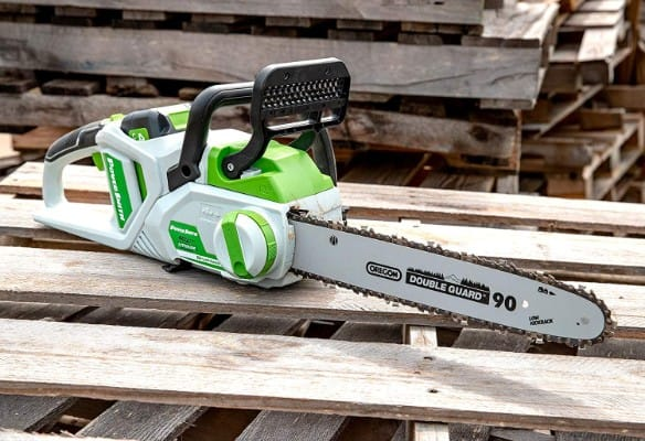 POWERSMITH 14-Inch 40 Volt Max Cordless Battery Powered Lithium-Ion Chainsaw