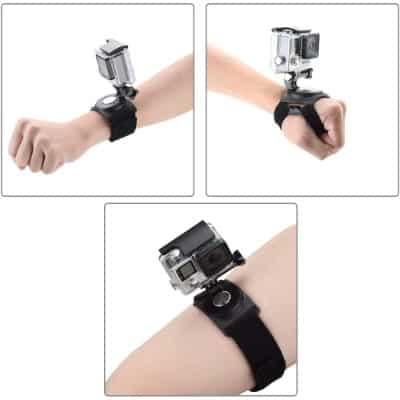Pieviev GoPro Wrist Strap Mount Strip Belt