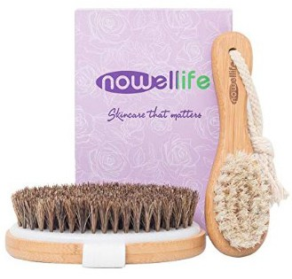 Dry Skin Body Brush Set- Bamboo Bath Body Scrubber Brush