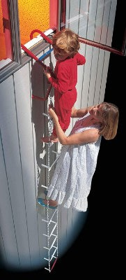 QuickEscape Fire Escape Ladder, 2 Story Portable Emergency Escape Ladder