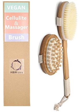 Dry Brushing Body Brush-Natural VEGAN Bristles