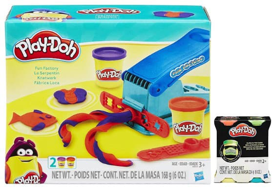 Play-Doh Fun Factory Set Bundle with Bonus Glow In The Dark