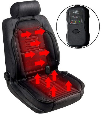 Sojoy Universal 12V Heated Smart Multifunctional Car Seat Heater Heated Cushion