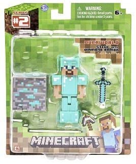 Hot Topic Minecraft Series #2 Steve With Diamond Armor Action Figure