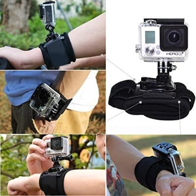 CISNO 360 Degree Rotatable Camera Accessories Wrist Strap Band Holder