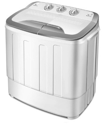 Giantex Portable Compact 13 Lbs Mini Twin Tub Washing Machine Washer Spin Dryer