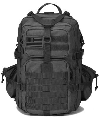 Military Tactical Backpack w:Bottle Holder, Small 3 Day Assault Pack Army Molle Bug Out Bag