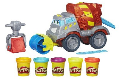 Play-Doh Max The Cement Mixer Toy Construction Truck with 5 Non-Toxic Colors