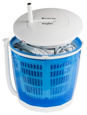 Avalon Bay EcoSpin, Portable Hand Cranked Manual Clothes Non-Electric Washing Machine