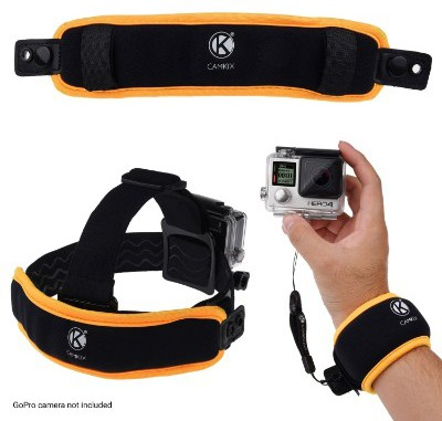 CamKix 2in1 Floating Wrist Strap & Headstrap Floater