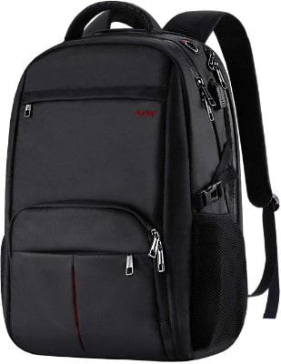 Large Laptop Backpack, 17.3 inch TSA Durable Business Slim Travel Laptop Backpack