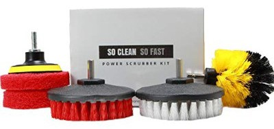 Power Scrubber Set- Drill Brush & Scrub Pad