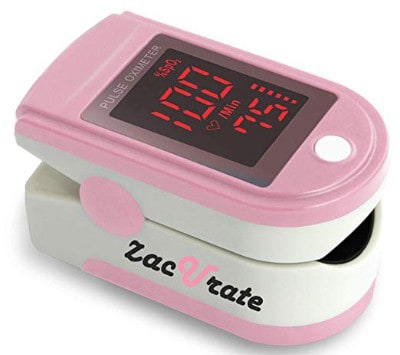 Zacurate Pink Series Fingertip Pulse Oximeter and Blood Oxygen Saturation Monitor