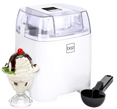 Best Choice Products 1.5L Homemade Soft Serve Ice Cream Maker Machine w:LCD Timer