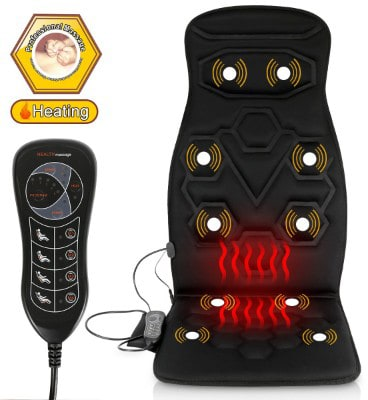 Comfitech Heated Car Seat Back Massager Cushion Chair Pad