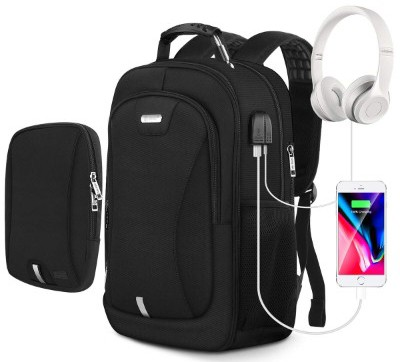 Laptop Backpack, Travel Backpack for Men and Women with USB Charging Port and Audio Jack